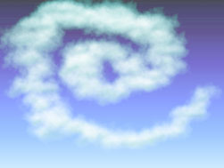 The At Symbol In Clouds